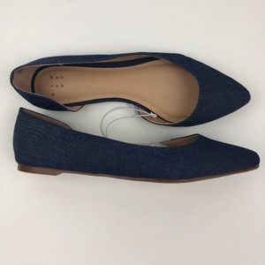 NWT A New Day Mohana D'orsay Denim Flats